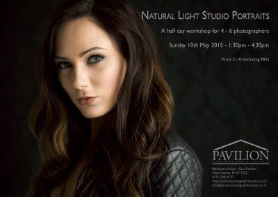 natural light portrait photography workshop flyer 10th May 2015